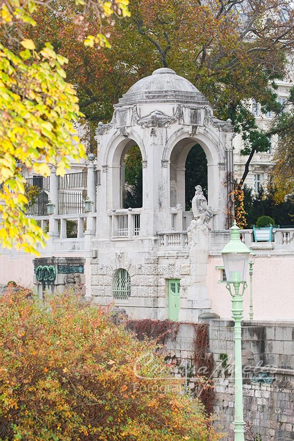 Herbststimmung im Stadtpark in Wien
